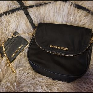 Micheal Kors Black Shoulder Bag